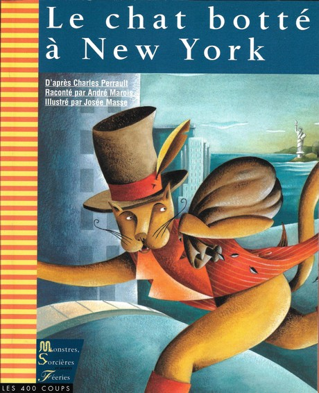 Couverture du livre Chat botté à New York